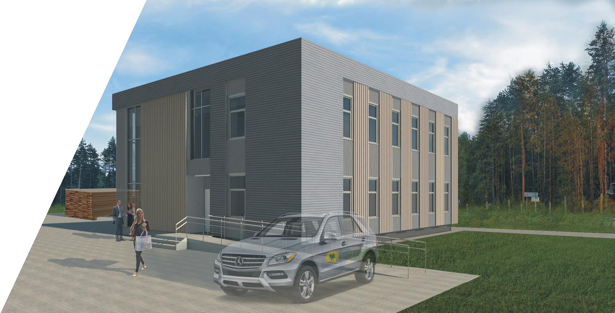 Administratīvās ēkas un noliktavas ēka ar ražošanas telpām