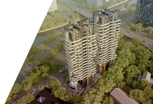 Daudzdzīvokļu dzīvojamo ēku komplekss Rīgā, Raņķa dambī 34